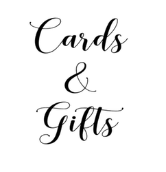 """Gifts&cards"" vinyltryck 10x13 cm"