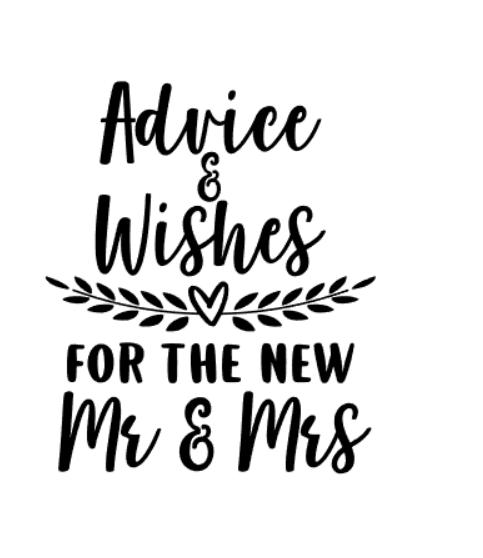 """Advice & wishes"" vinyltryck 21x18 cm"