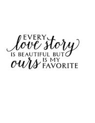 """love story"" 5x10 cm"