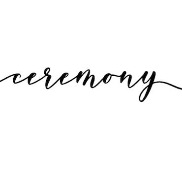"""Ceremony"" vinyltryck 3x20 cm"