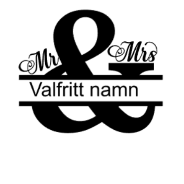 """""""mr & mrs"""" vinyltryck 17x20 cm"""