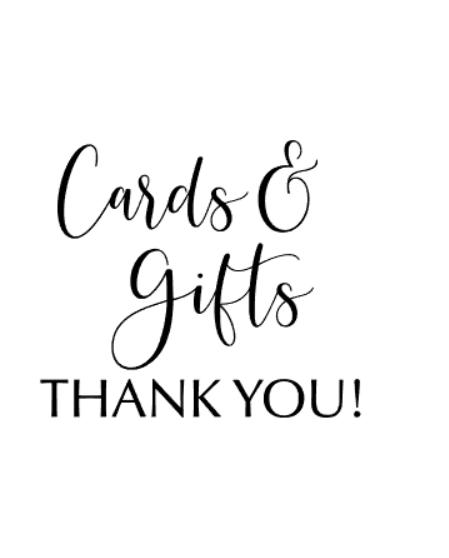 """Cards&gifts"" vinyltryck 17x19 cm"