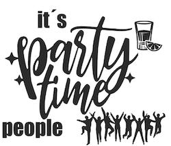 """""""Party time"""" vinyltryck 10x12 cm"""