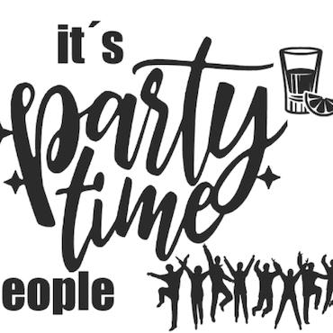 """""""Party time"""" vinyltryck 17x20 cm"""