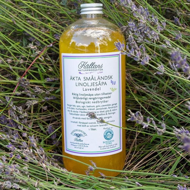 1 liter linoljesåpa - Lavendel