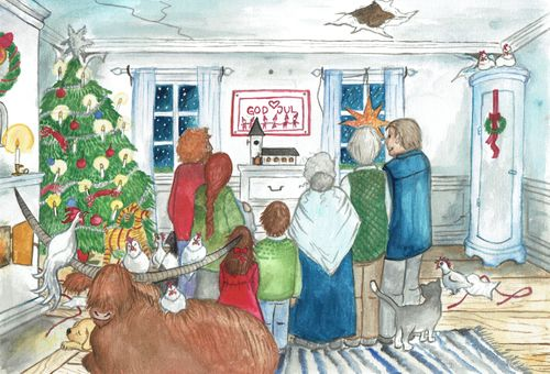 Julafton i gamla salen
