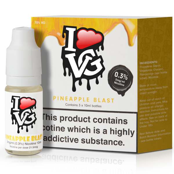 Pineapple Blast eLiquid by I Like VG 10ml