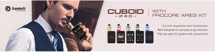 Joyetech Cuboid Pro 200W med ProCore Aries Touchscreen TC Kit