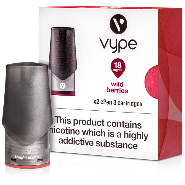 Wild Berries ePen 3 Prefilled Vape Pod by Vype 2ml 1st
