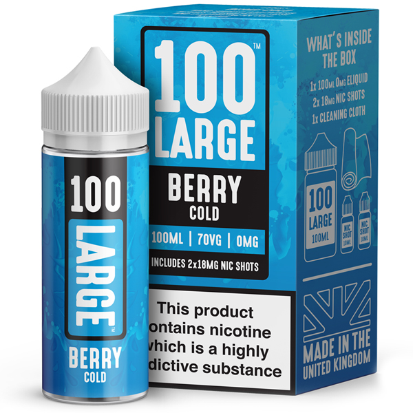 Berry Cold E-Liquid by 100 Large 100ml 0mg