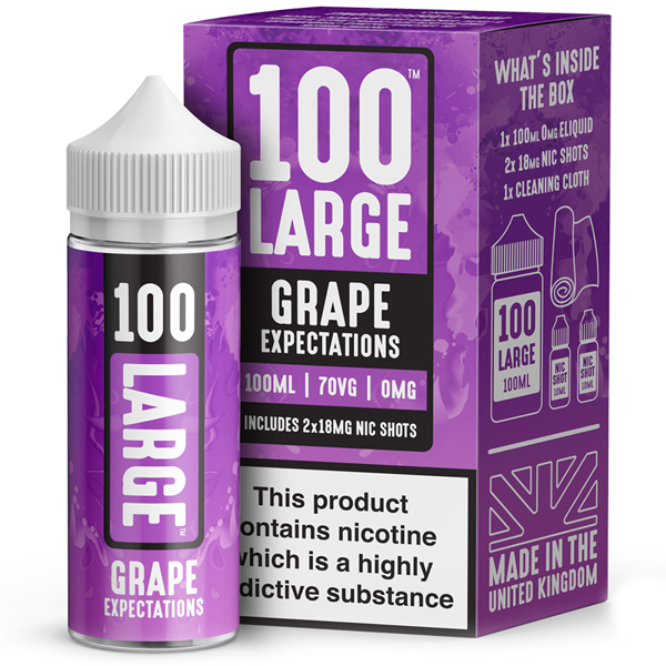 Grape Expectations E-Liquid by 100 Large 100ml 0mg