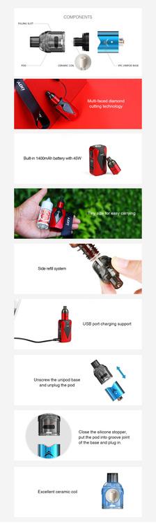 IJoy Diamond VPC kit 1400Mah Vape E-cigarett