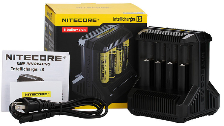 Nitecore i8 intellicharger batteriladdare