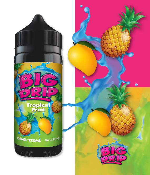 Tropical fruit Big drip-Doozy Vape co. 100ml 0mg