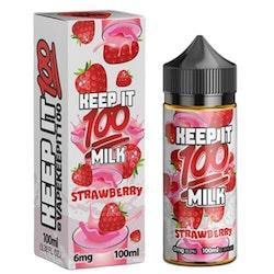 Keep it 100 Strawberry Milk 100ml 0mg