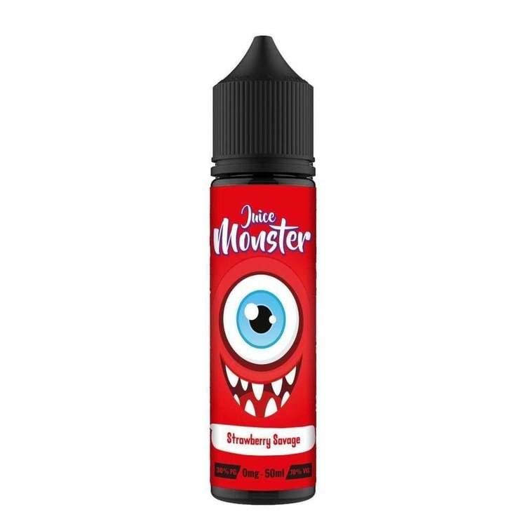 Juice Monster Strawberry Savage 50ml 0mg e-juice ejuice Vejpkungen