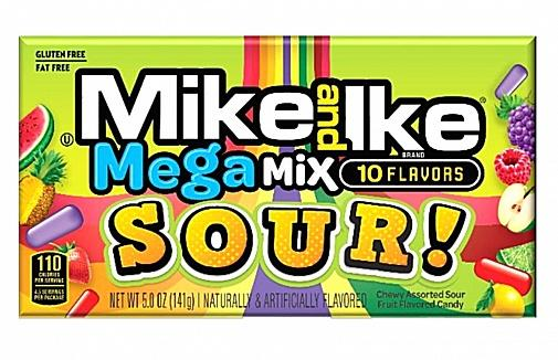 Mike and Ike Megamix Sour 141g