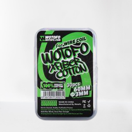 Wotofo Xfiber Cotton 6mm 30st vejpkungen