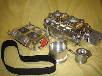 Weiand, 6-71 kompressorkit, polerad, Chevrolet Smallblock