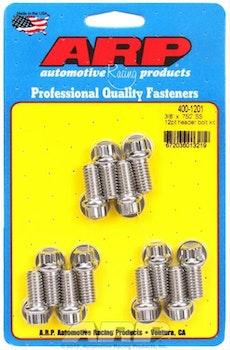 ARP-400-1201, Chevy SB, Headers bult, rostfri, 12-kantskalle