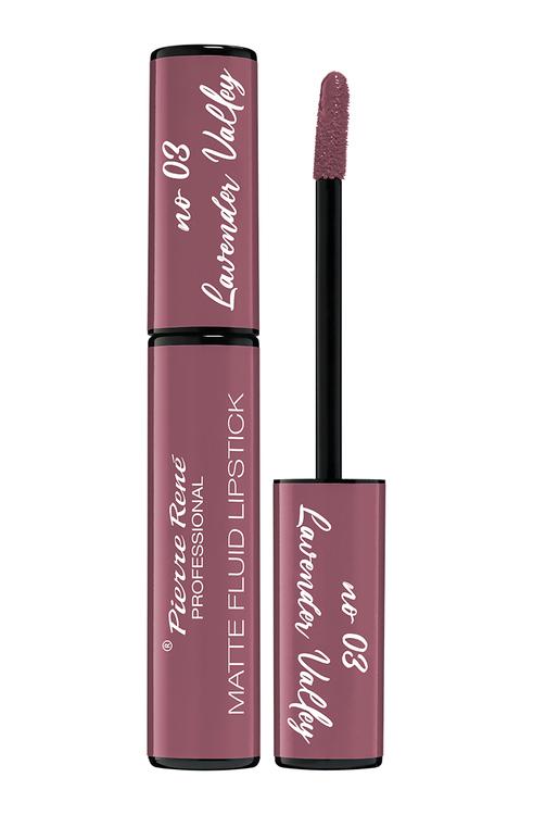Pierre René Royal Matte Fluid Lipstick 03 Lavender Valley