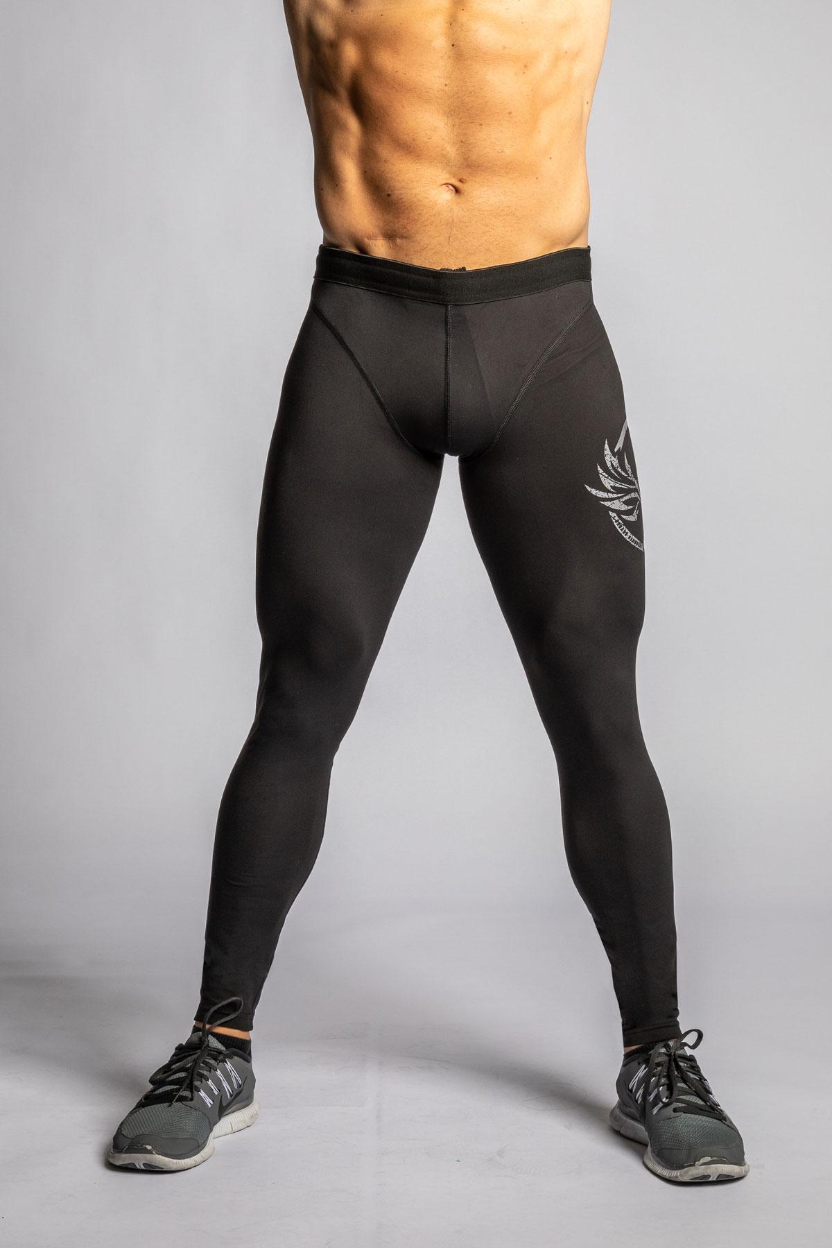 svarta crossfit träningstights herr
