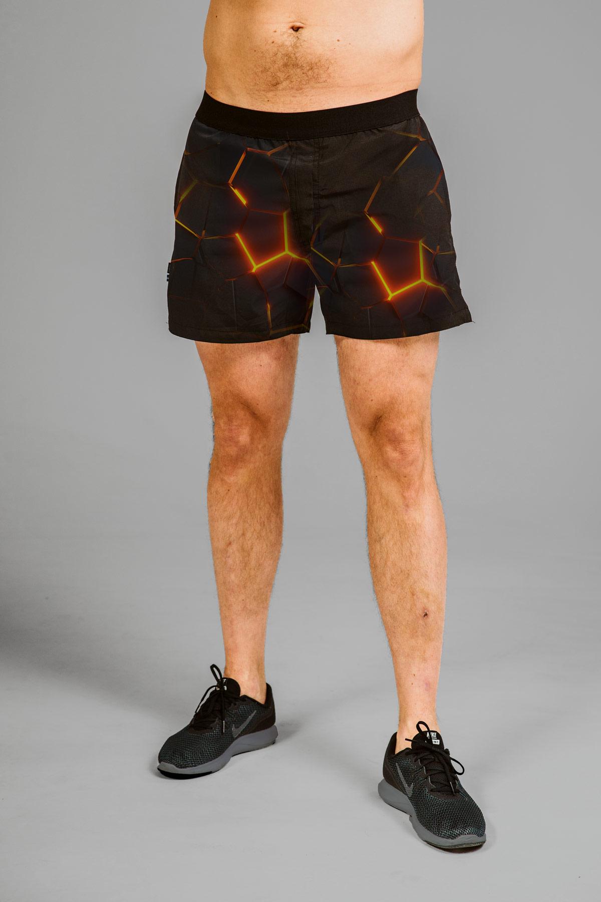 crossfit mönstrade coola herr shorts