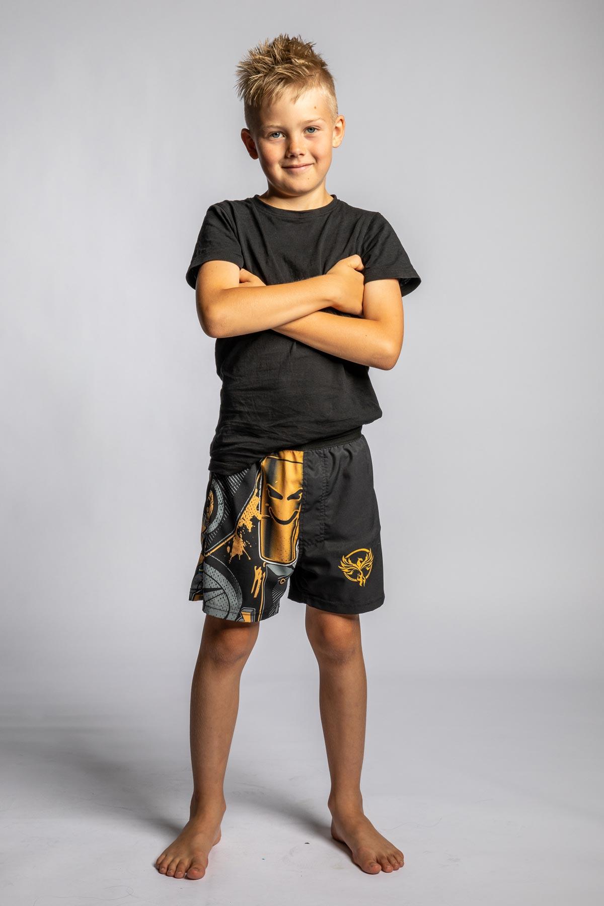 mönstrade barn shorts