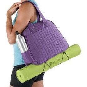 Yogamattväska Metro Gym Bag lila från Gaiam