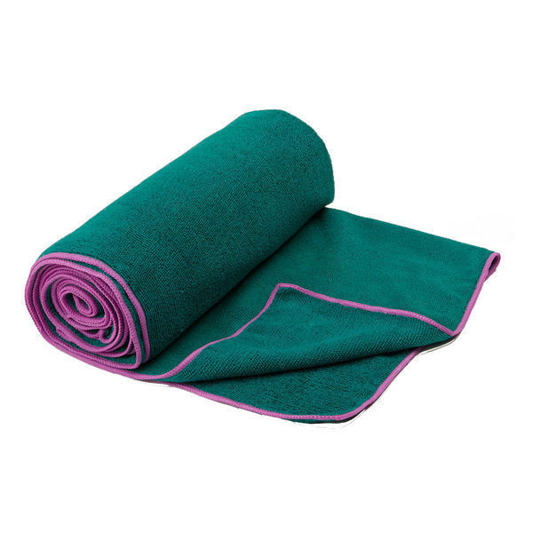 Gaiam Thirsty Yoga Mat Towel Orchid/Turq