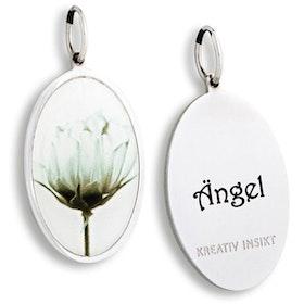 Berlock Till dig med kärlek Blomma Ängel från Kreativ Insikt