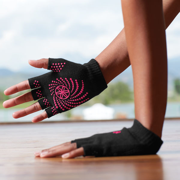 Grippy Yoga Gloves pink från Gaiam