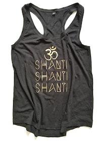 Om Shanti - Racerback Tank - Black från Enso Tribe