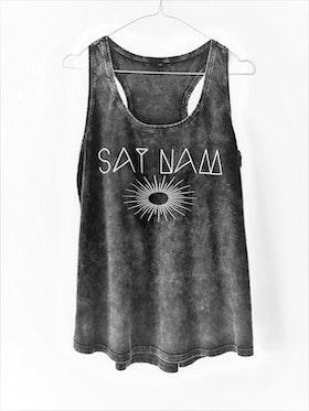Sat Nam - Racerback Tank - Acid Black från Enso Tribe