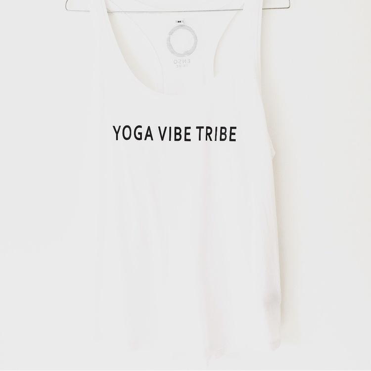 Yoga Vibe Tribe - Racerback Tank - White från Enso Tribe