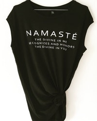 Namasté -Tank - Black från Enso Tribe