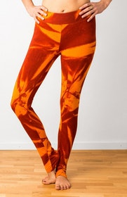 Thick Orange Star Tie Dye leggings från Mata Hari