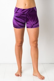 Thin Lycra Purple Star Yoga shorts från Mata Hari