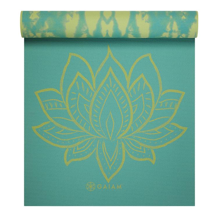 NYHET Yogamatta Turqupise Lotus vänbar 6 mm från Gaiam
