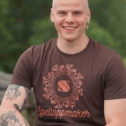 T-skjorte logo, brun
