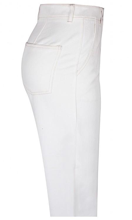 Jeans med vida 3/4 ben