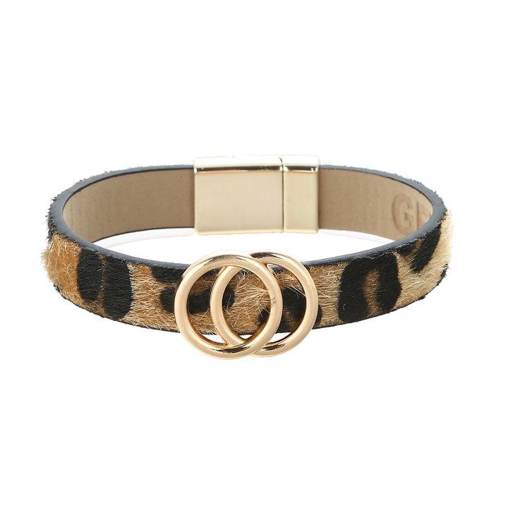 Armband med läderrem