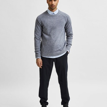 NEWCOBAN LAMBS WOOL CREW NECK