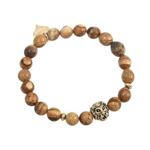 Armband bruna pärlor gemini