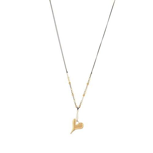 Långt halsband  med hjärta gemini