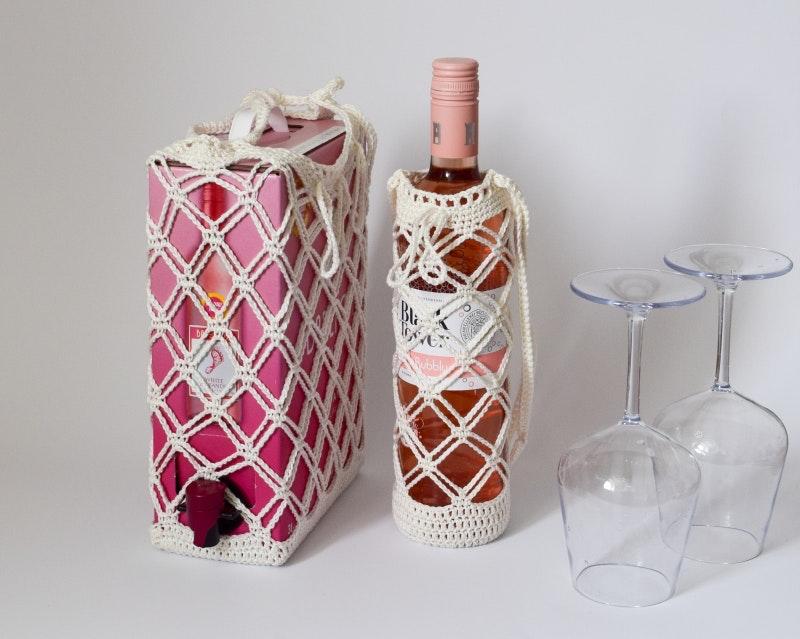 Vin Caddy - Gratis mönster till vinflaska