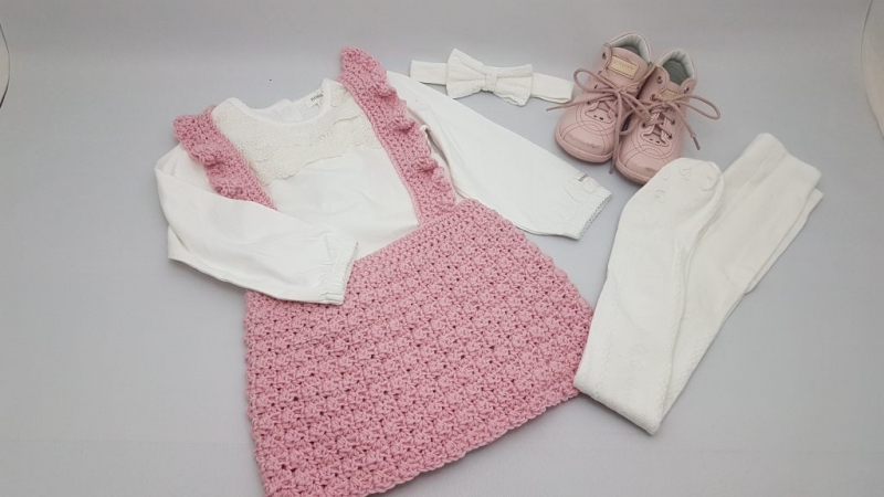 Rose ruffled strap kjol - swecraftcorner