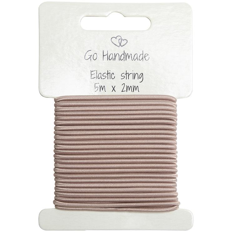 Knytsnöre - elastisk - Mushroom