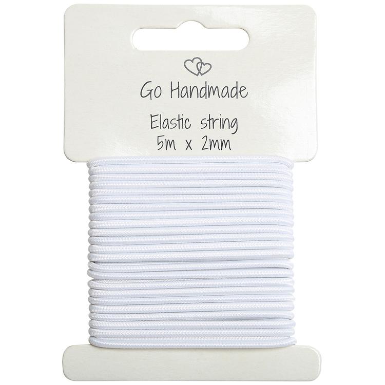 Knytsnöre - elastisk - White