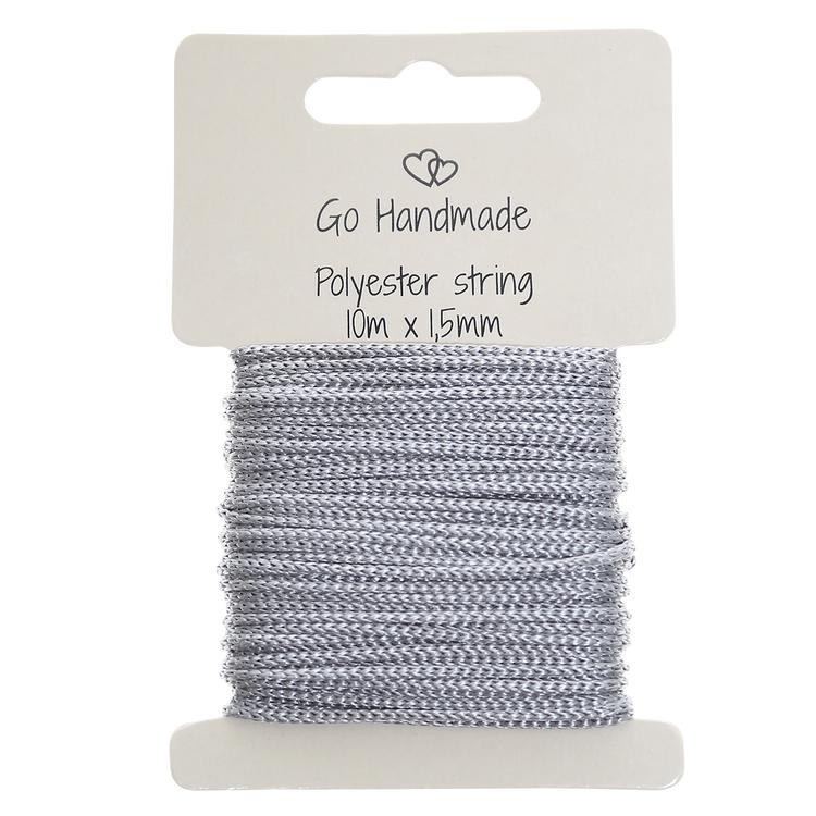 Knytsnöre - polyester - Grey